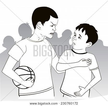 Conflict Of Two Boys  Basketball