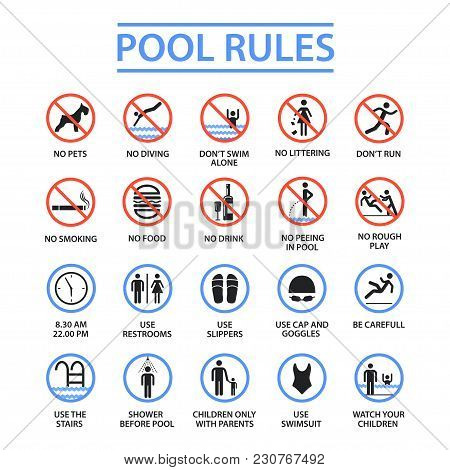 Swimming Pool Rules. Public And Private Pools Rules To Ensure Health, Safety And To Provide Enjoyabl