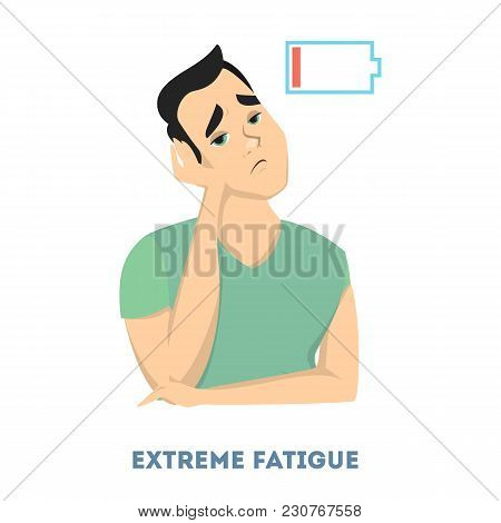 Man Diabetes Symptoms. Having Really Extreme Fatigue.