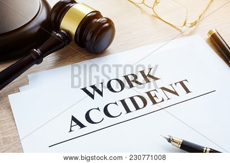 Documents About Work Accident In A Court.