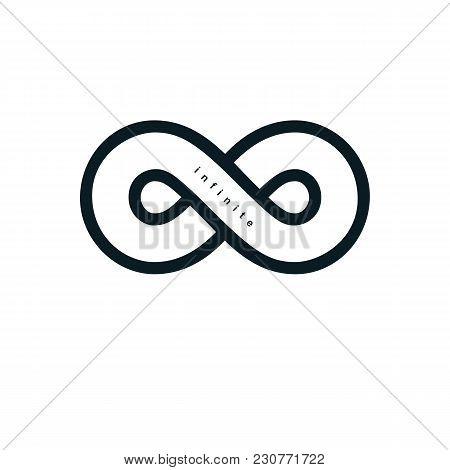 Endless Infinity Loop Vector Symbol, Conceptual Logo Special Design.