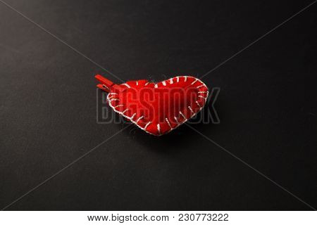Red Heart From Clothes