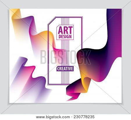 Vector Of Modern Abstract Shape, 3d Shape Gradient. 3d Flower Shape, Vector Abstract Art. Perfect Fo