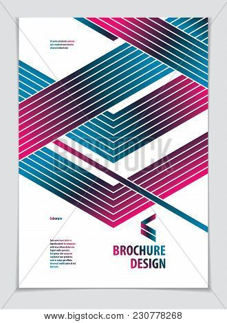 Template For Cover, Placard, Poster, Flyer And Banner Design. Cool Geometric Vector Line Background