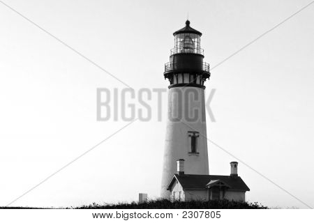 Classicblack And White  Lighthouse