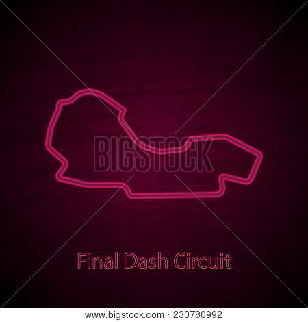 Black Gradient Background With Pink Neon Outline Road Silhouette And Text
