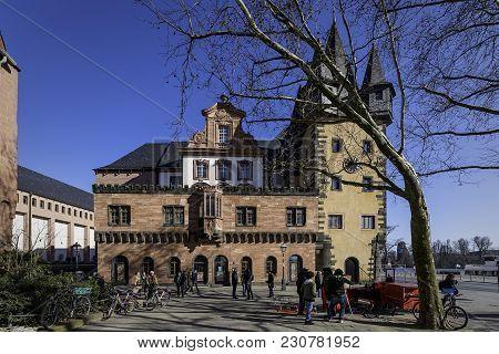 Germany, Frankfurt - 24.february, 2018: Building Of Historical Museum In Frankfurt Am Main On A Sunn