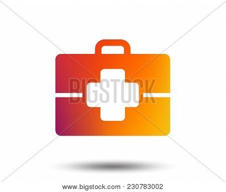 Medical Case Sign Icon. Doctor Symbol. Blurred Gradient Design Element. Vivid Graphic Flat Icon. Vec