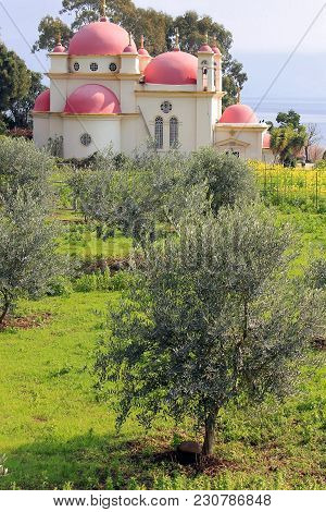 The Greek Orthodox Church Of The Twelve Apostles Near The Shore Of The Sea Of Galilee ( Kinneret ) A