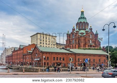 Helsinki, Finland - August 20, 2017: Uspenski Cathedral, Eastern