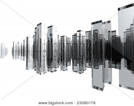 Glass City with white background