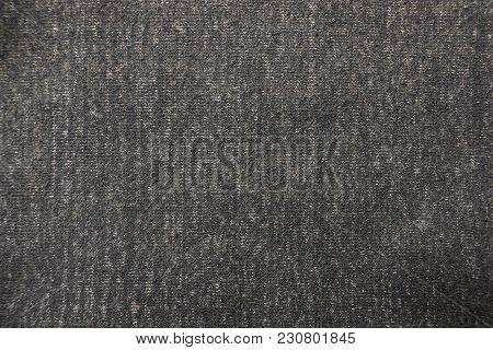 Dark Gray Fabric Texture Of Woolen Clothes
