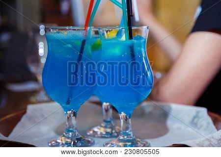 alcohol drink on bar. cocktail