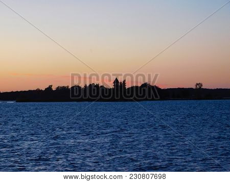 Sunset Over Calumet In Island In Thousand Islands, Ny
