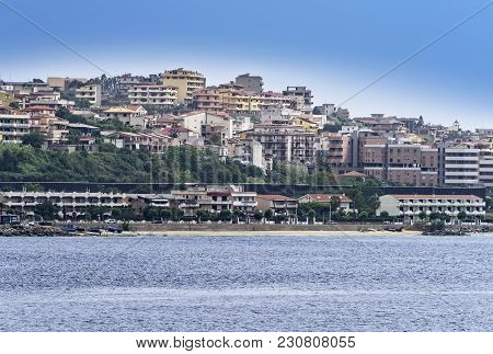 Small Town On The Coastline Of Italy