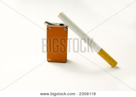 Cigarette And Lighter