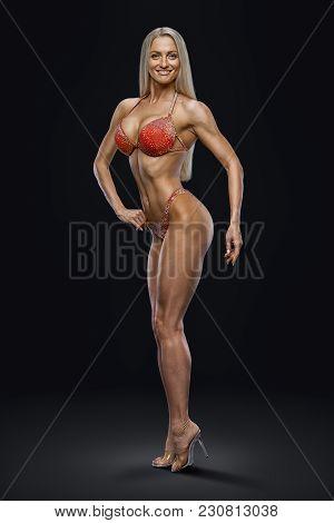 Image Inspire Concept Champion Female Fitness Bikini Model Competition Confident Attractive Happy Yo