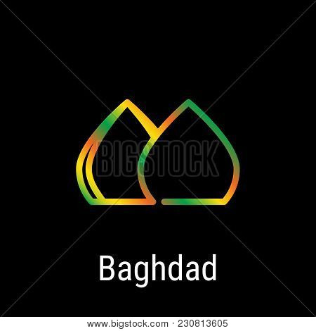 Baghdad, Iraq Vector Line Icon