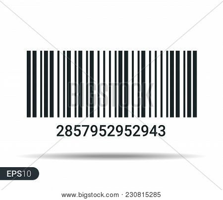 New Realistic Barcode. Barcode Template - Stock Vector Illustration Isolated On White Background Wit