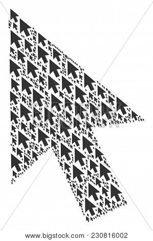 Cursor Arrow Illustration Done In The Set Of Cursor Arrow Pictograms. Vector Iconized Collage Combin