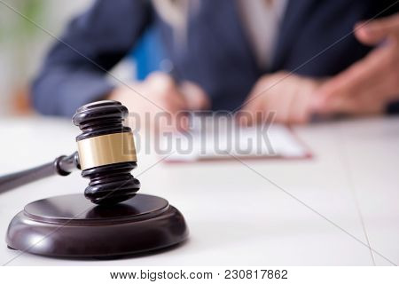 Judge and his gavel in law concept