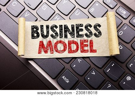 Hand Writing Text Caption Inspiration Showing Business Model. Business Concept For Solution Strategy