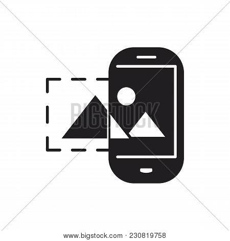 Virtual Reality Black Silhouette Icon. Virtual Reality Vector Illustration On White Background. Elem