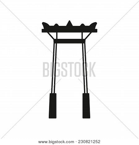 Giant Swing Silhouette Icon. Thailand Giant Swingvector Illustration Isolated On White Background. E