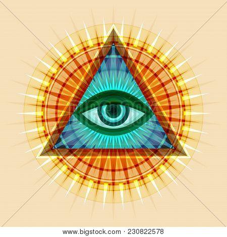 All-seeing Eye Of God (the Eye Of Providence | Eye Of Omniscience | Luminous Delta | Oculus Dei). An
