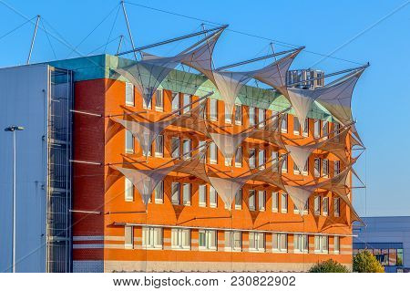 Charleroi, Belgium - October 9,2015:the Building Of Center For Applied Research In Numerical Simulat