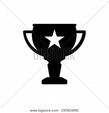 Trophy Icon Isolated On White Background. Trophy Icon Modern Symbol For Graphic And Web Design. Trop
