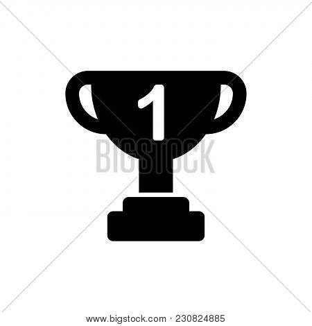 Trophy Icon Isolated On White Background Modern Symbol For Graphic And Web Design Simple Sign Logo App UI