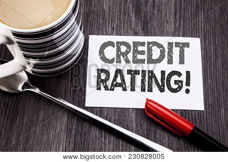 Conceptual Hand Writing Text Caption Showing Credit Rating. Business Concept For Finance Score Histo