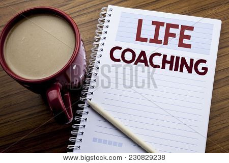 Hand Writing Text Caption Inspiration Showing Life Coaching. Business Concept For Personal Coach Hel
