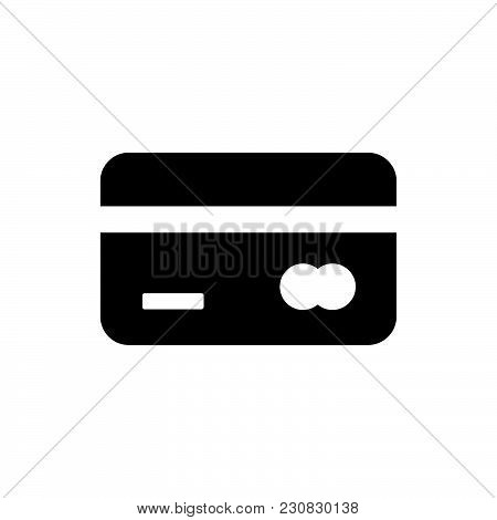 Credit Card Icon Isolated On White Background. Credit Card Icon Modern Symbol For Graphic And Web De