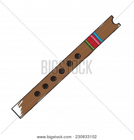 Isolated Flute Icon. Musical Instrument. Vector Illustration Design