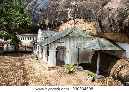 Dambulla Cave Temple. Cave Temple is a World Heritage Site near Dambulla city. Sri Lanka.