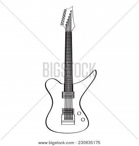 Electric Guitar Icon. Musical Instrument. Vector Illustration Design