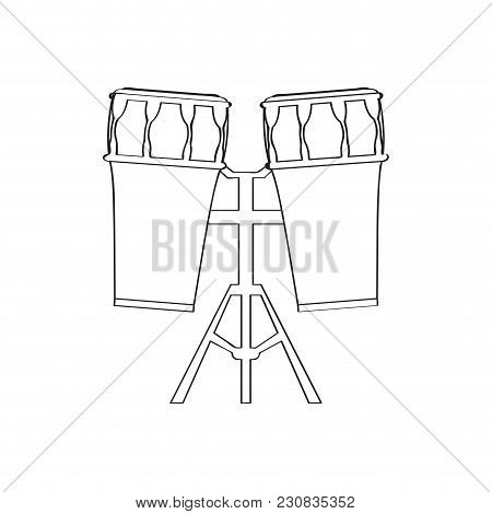 Pair Of Drums Icon. Musical Instrument. Vector Illustration Design