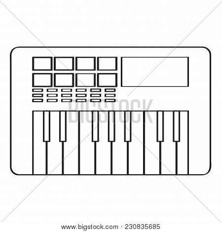 Isolated Keyboard Icon. Musical Instrument. Vector Illustration Design