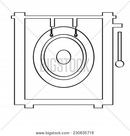 Isolated Gong Icon. Musical Instrument. Vector Illustration Design