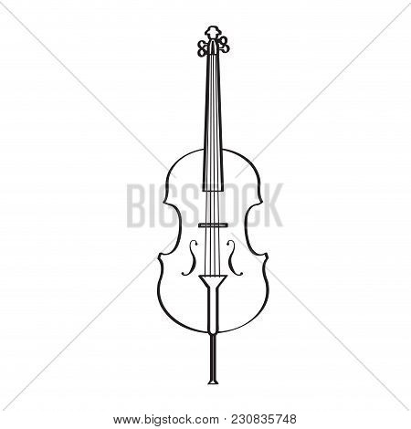Isolated Cello Icon. Musical Instrument. Vector Illustration Design