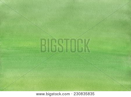 Clean Green Watercolor Background Uniform Mixing Of Yellowish Green And Yellow Cadmium Medium