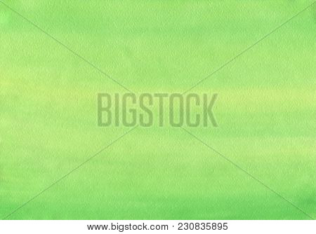 Clean Green Watercolor Background Uniform Mixing Of Cadmium Lemon And Yellowish Green
