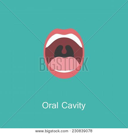 Open Mouth With Teeth And Tongue Line Icon Isolated On Background. Dental Concept. Symbol Of Communi