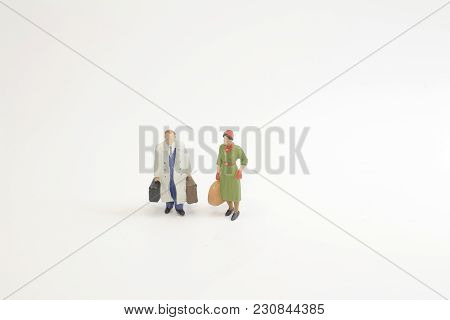 A Travel Concept Mini Figure With Luggage