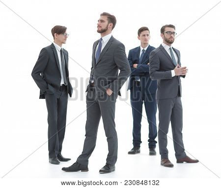 group of modern business people