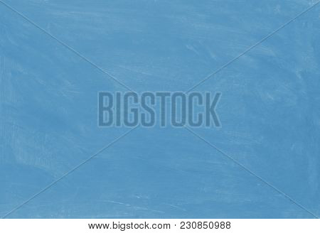 Blue Painted Textured Abstract Background With Brush Strokes In Gray And Black Shades