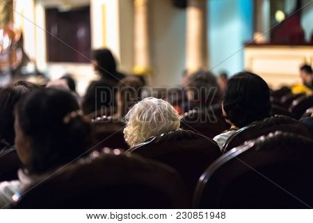 Audience Watching Concert Show In The Theater