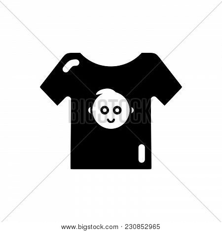 Baby Boy Shirt Vector Icon On White Background. Baby Boy Shirt Modern Icon For Graphic And Web Desig